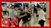 Gang attacks riders on Hong Kong subway 5