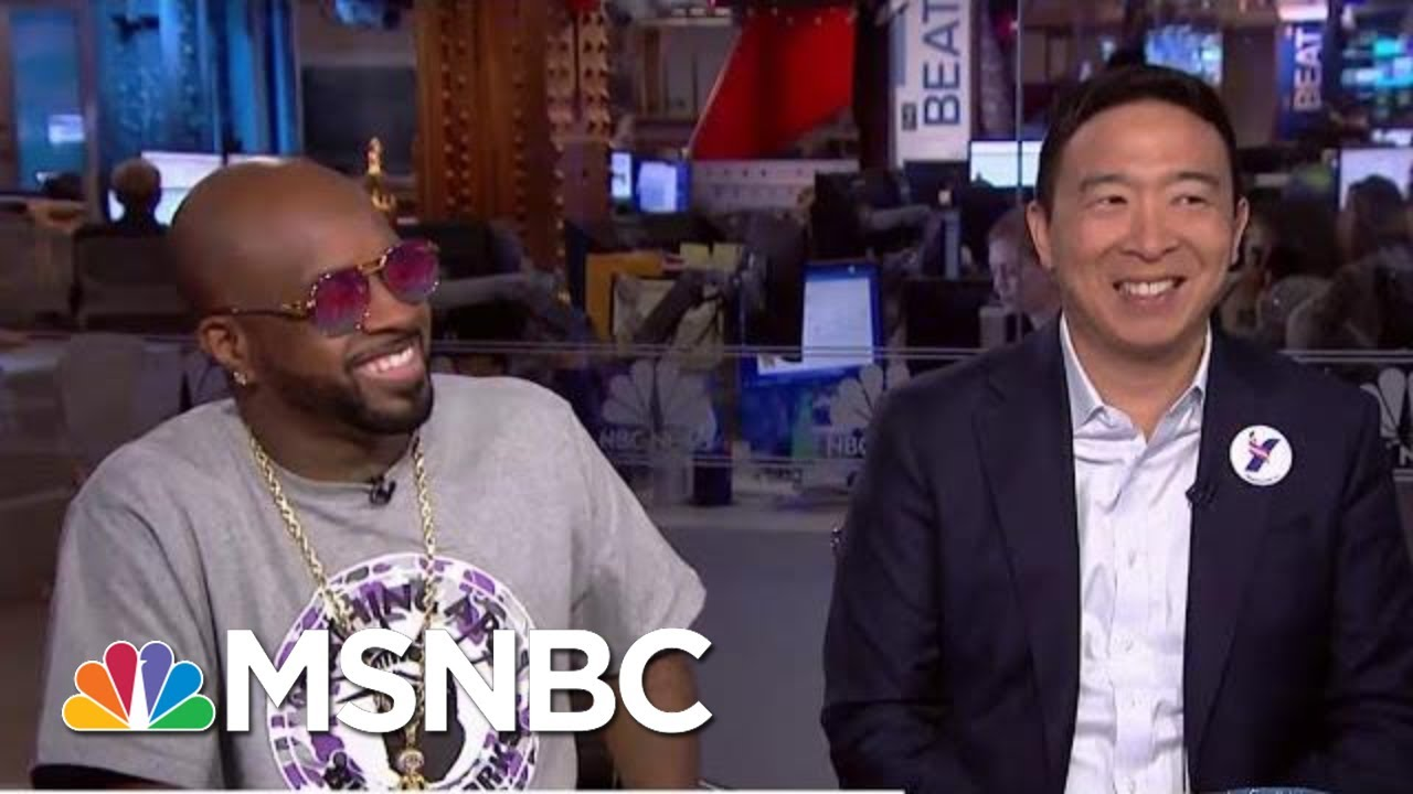2020 Dem Andrew Yang Slams The Knicks For Bad Sportsmanship   The Beat With Ari Melber   MSNBC 3