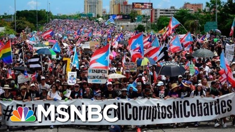 Hundreds Of Thousands Flood Streets To Demand Governor's Resignation - The Day That Was | MSNBC 1