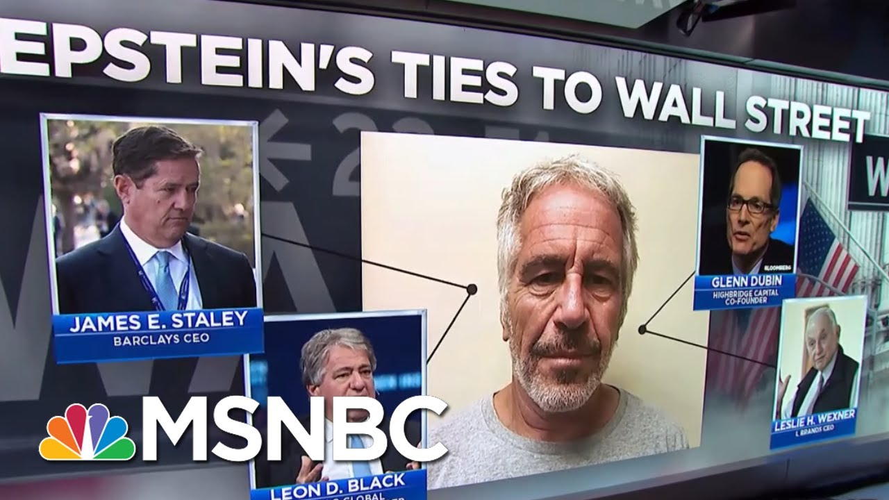 NYT Details Epstein's Deep Ties To Wall Street | Velshi & Ruhle | MSNBC 1