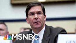 Senate Confirms Mark Esper As New Secretary Of Defense | Velshi & Ruhle | MSNBC 6