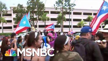 Thousands Celebrate Puerto Rico Gov. Resignation: 'Bye Bye Ricky'   Katy Tur   MSNBC 6