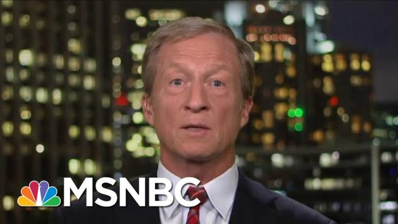Tom Steyer Unveils Climate Plan | All In | MSNBC 1