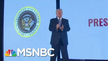 'A Well-Deserved Tribute'? Donald Trump In Front Of Fake Seal   Morning Joe   MSNBC 1