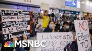 Pro-Democracy Demonstrators Protest At Hong Kong Airport | Hallie Jackson | MSNBC 5