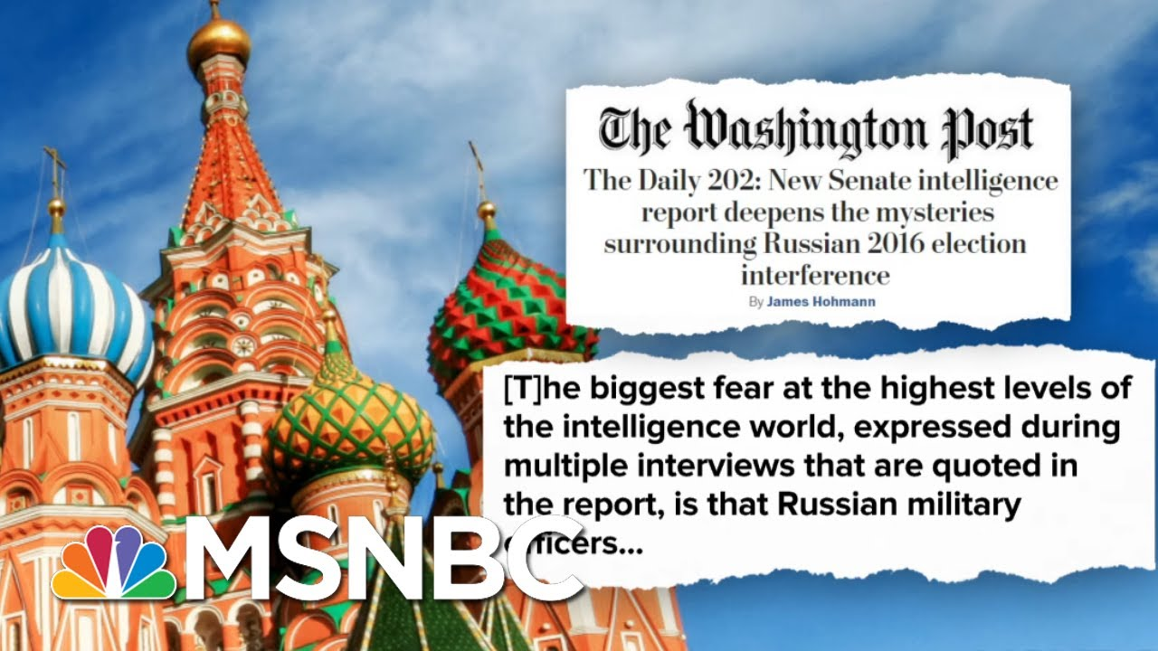 Senate Intel Report Details Extensive Russian Interference In 2016 Election | Deadline | MSNBC 6