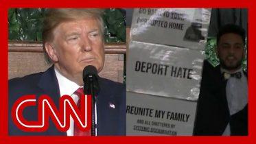 Protester interrupts Trump: You can't send us back! 6