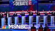 Dems Face Challenge Of Responding To Donald Trump's Attacks At Debate | Velshi & Ruhle | MSNBC 4