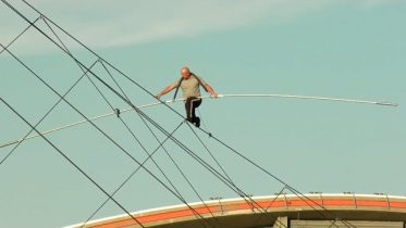Nik Wallenda's high-wire walk over the Calgary Stampede midway 4