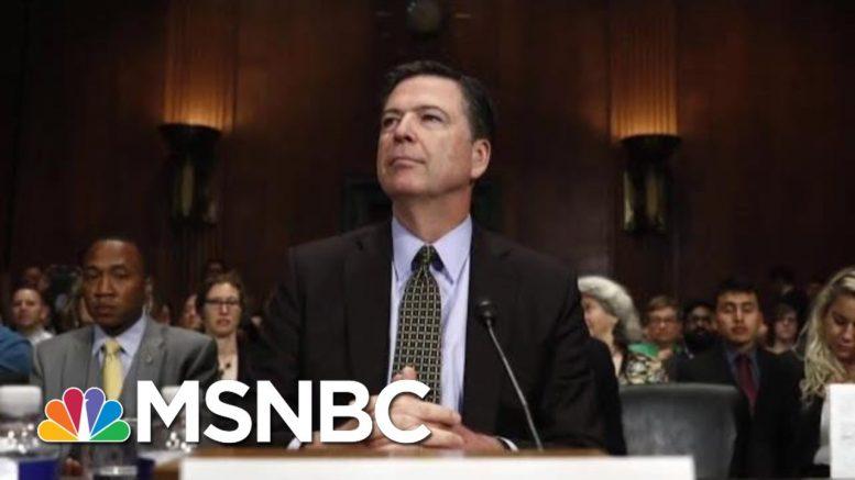 DOJ Won't Prosecute James Comey For Leaking Trump Memos   Velshi & Ruhle   MSNBC 1