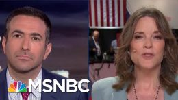 2020 Dem Marianne Williamson Addresses Vaccination Controversy | The Beat With Ari Melber | MSNBC 9