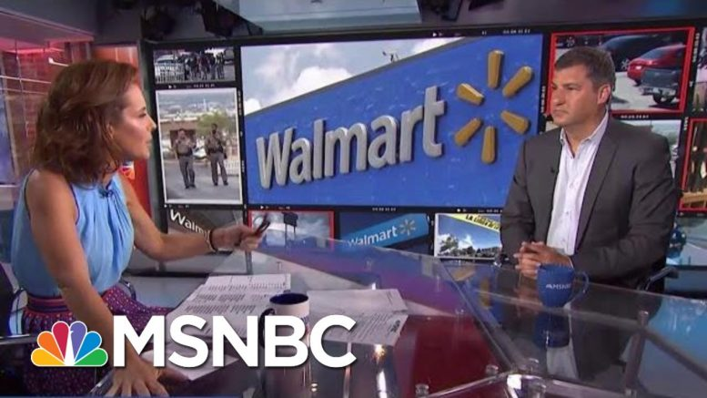 NYT Columnist Asks Walmart CEO To Use His Clout To Curb Gun Violence | Velshi & Ruhle | MSNBC 1