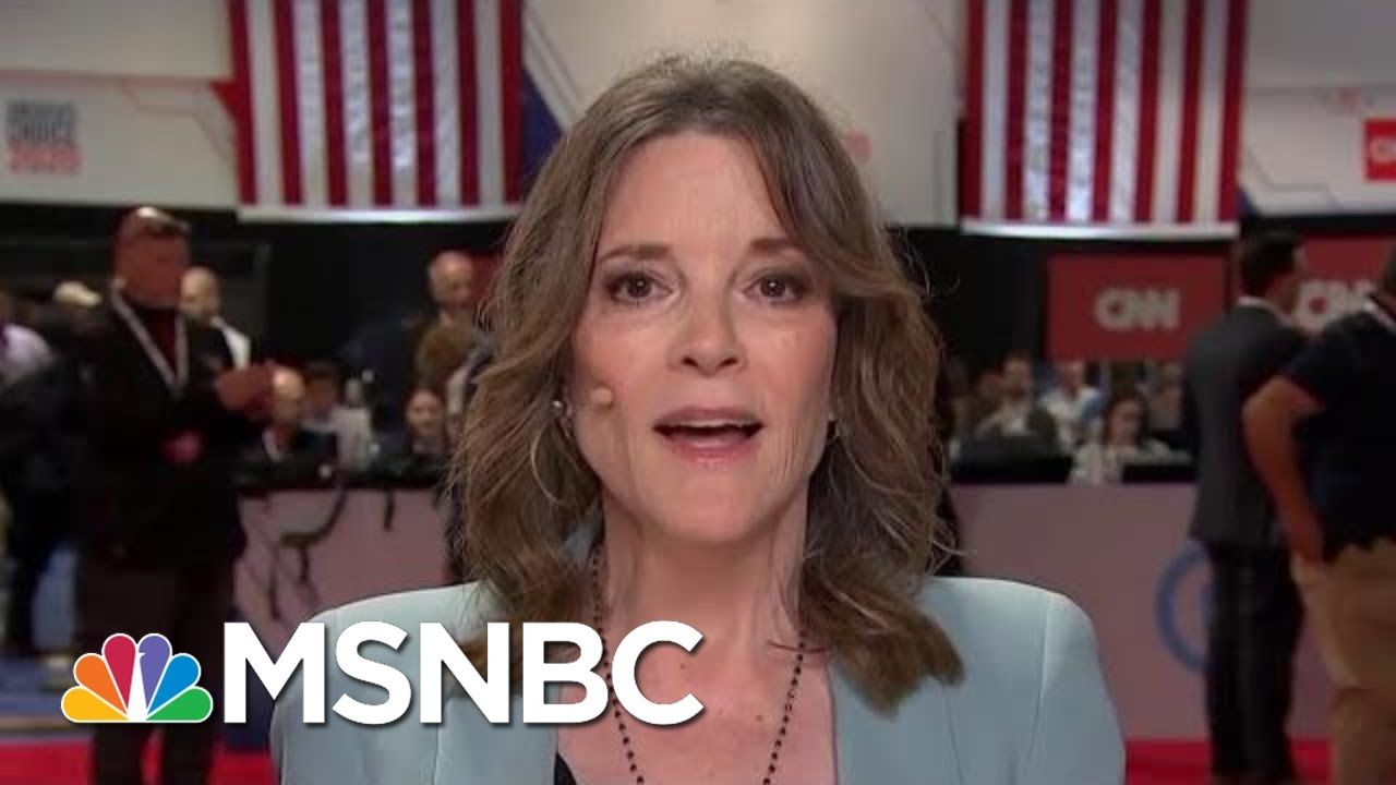 Marianne Williamson Apologizes For Calling Depression 'A Scam'   The Beat With Ari Melber   MSNBC 1