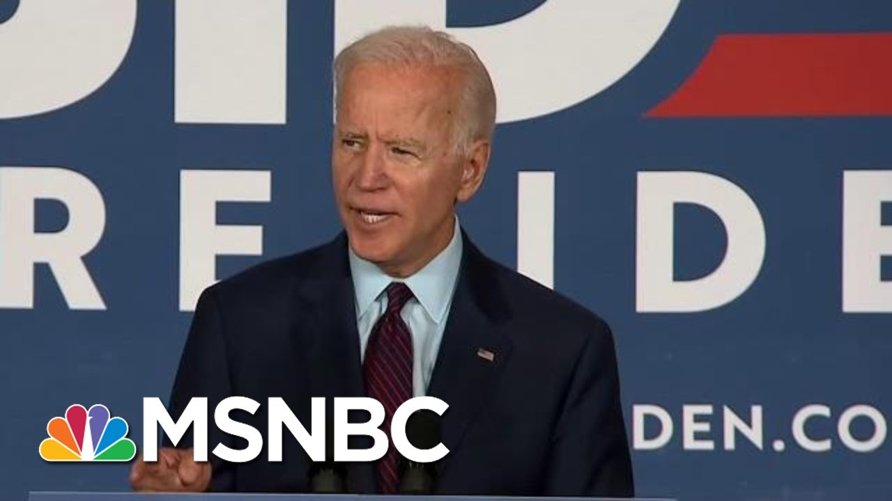 Former Vice President Joe Biden Claims Trump's Rhetoric Is About 'The Abuse Of Power'   MSNBC 7