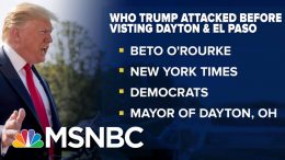 Grieving Victims Tell Trump To Stay Away After Shootings | The Beat With Ari Melber | MSNBC 3