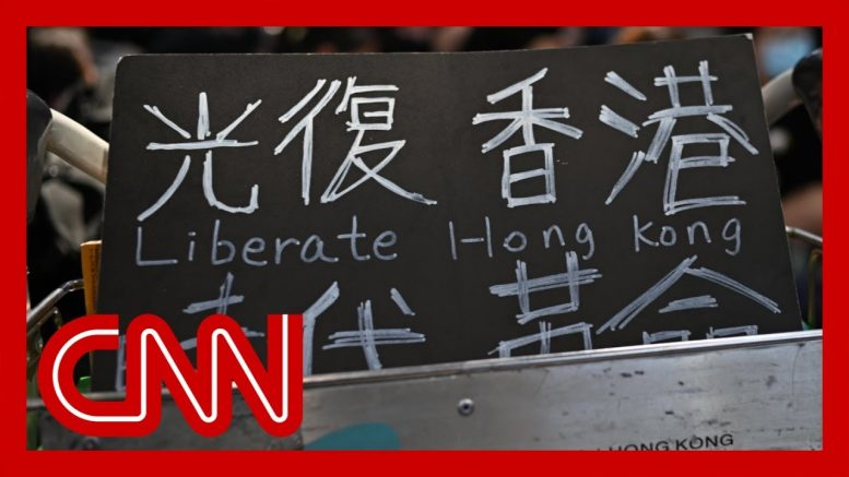 Hong Kong airport occupied by hundreds of protesters 1