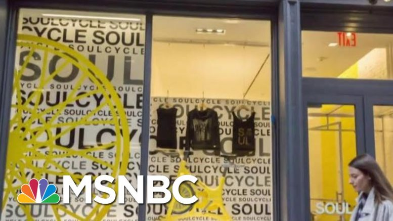 SoulCycle, Equinox Face Boycott Calls Due To Owner's Trump Fundraiser | Velshi & Ruhle | MSNBC 1