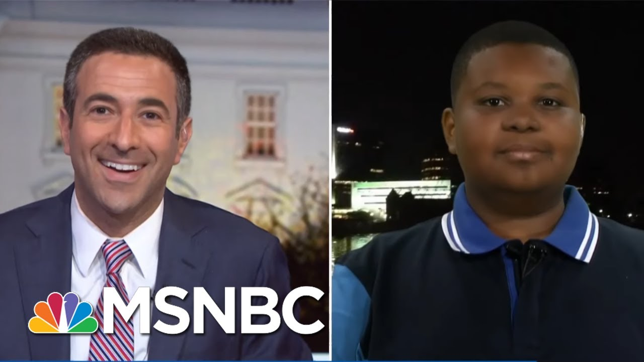 Meet Jaden Jefferson: The 11-Year-Old Reporter On The 2020 Trail | The Beat With Ari Melber | MSNBC 1