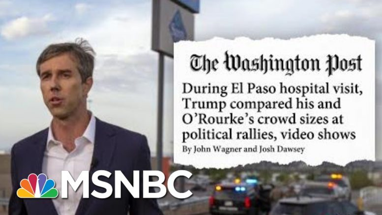 WaPo: During Hospital Visit, Trump Compared His And Beto O'Rourke's Crowd Sizes | Hardball | MSNBC 1