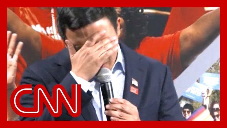 Presidential candidate Andrew Yang breaks down over gun violence 1