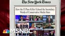 El Paso Killer Echoed Words From Conservative Media: NYT | Morning Joe | MSNBC 7