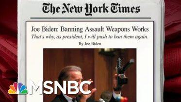 Joe Biden Writes In Op-Ed On Assault Weapons Ban | Morning Joe | MSNBC 2