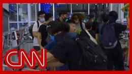 Chaos erupts at Hong Kong airport as riot police take on protesters 8