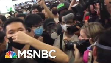 Riot Police Clash With Hong Kong Protesters As Demonstrations Grow Violent | Craig Melvin | MSNBC 6