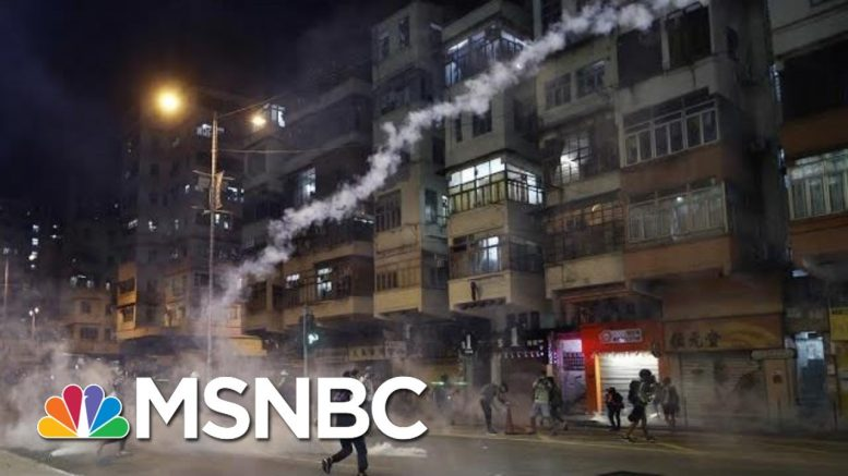 Hong Kong Police Fire Tear Gas At Demonstrators As Protests Continue | MSNBC 1