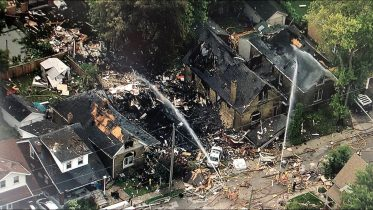 Aerial view of London, Ont. explosion aftermath from the CTV News chopper 10