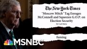'Moscow Mitch' McConnell 'Fuming' With Trolling | The Beat With Ari Melber | MSNBC 4