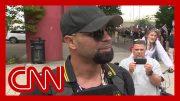 CNN reporter presses far-right rally leader in Portland 3