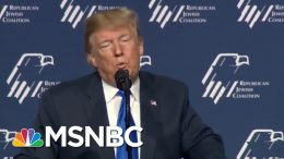 President Donald Trump Pushes Anti-Semitic Trope -- Again | All In | MSNBC 7
