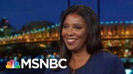 NY AG Letitia James Undaunted By Trump Frenzy To Keep Finances Hidden | Rachel Maddow | MSNBC 7