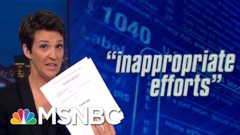 House: Whistleblower Alleges Undue Influence On Trump Tax Audit   Rachel Maddow   MSNBC 1