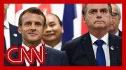 French President Emmanuel Macron slams Brazil's president over Amazon fires 2