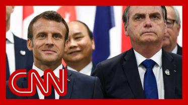 French President Emmanuel Macron slams Brazil's president over Amazon fires 10