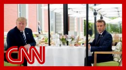 Trump lunches with Macron amid tension on tariffs 8