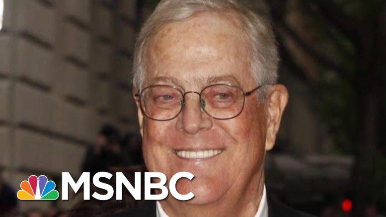 Billionaire Conservative Koch Brother, David Koch, Dies At 79   Morning Joe   MSNBC 1