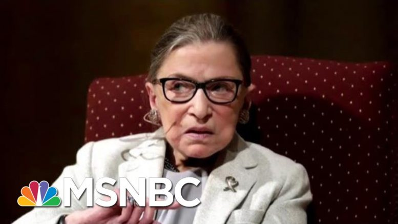 Justice Ginsburg Has Undergone More Cancer Treatment   Katy Tur   MSNBC 1