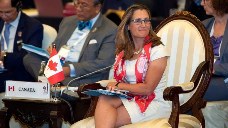 Freeland meets with Chinese officials on detained Canadians 1