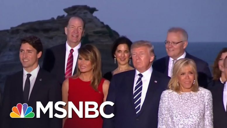 World Leaders Take 'Class Photo' At G-7   MSNBC 1