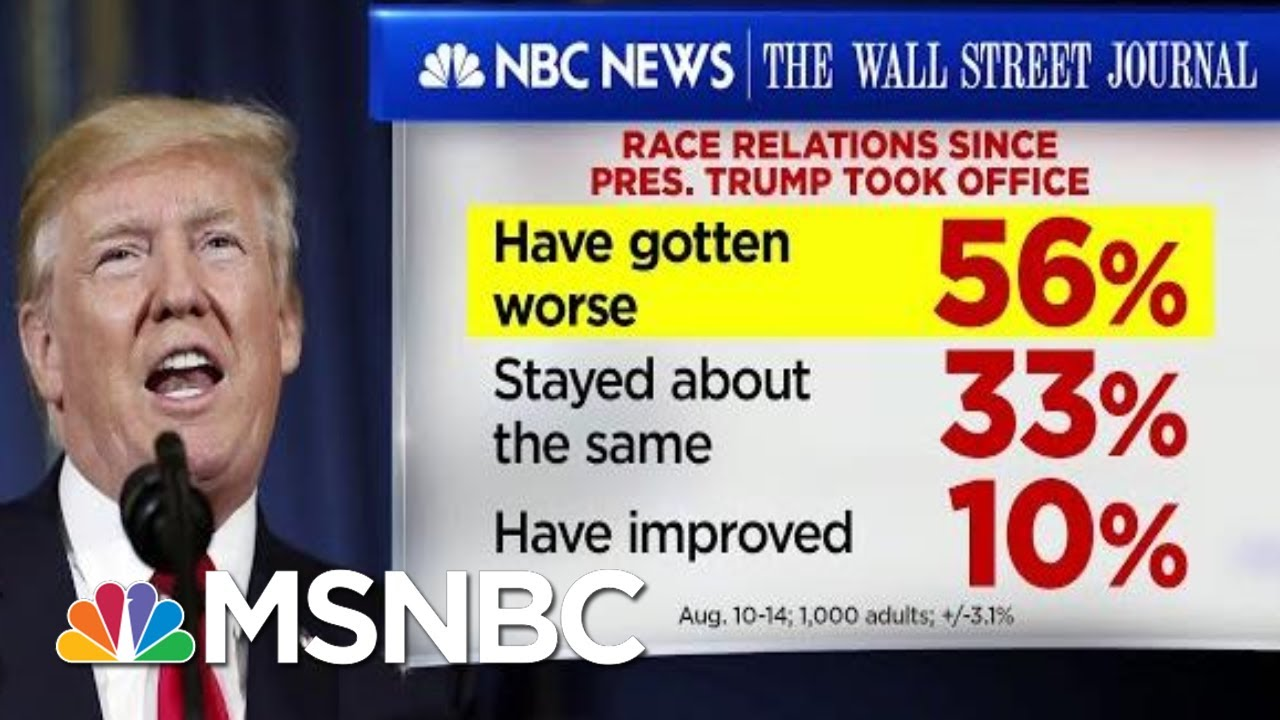 56% Of Americans Believe Race Relations Have Worsened Since 2016 | Velshi & Ruhle | MSNBC 9