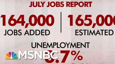July Jobs Report: 164,000 Jobs Added, Unemployment Stays At 3.7 Percent | Morning Joe | MSNBC 6