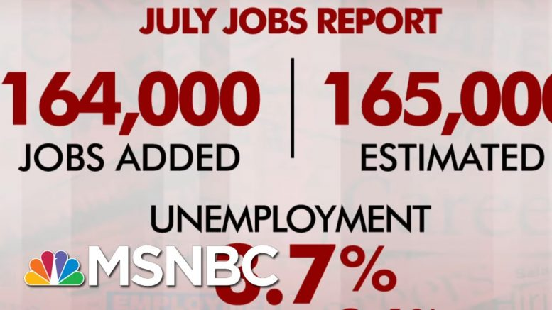 July Jobs Report: 164,000 Jobs Added, Unemployment Stays At 3.7 Percent   Morning Joe   MSNBC 1