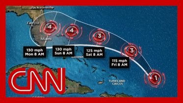 Hurricane Dorian on track to approach Florida as a Category 4 storm on Labor Day 6