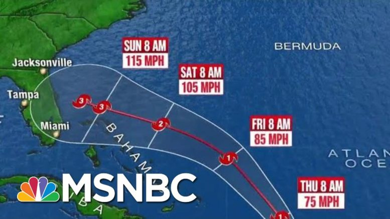 Tropical Storm Dorian Strengthened To A Hurricane | Katy Tur | MSNBC 1