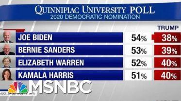 President Donald Trump Lagging Behind Democrats In 2020 Matchups   Hardball   MSNBC 6