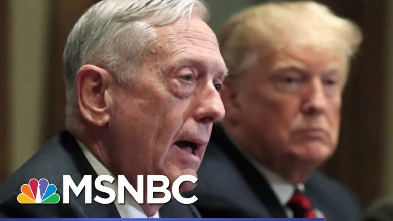 Atlantic: Mattis Found Trump To Be Of Limited Cognitive Ability, Dubious Behavior | Hardball | MSNBC 1