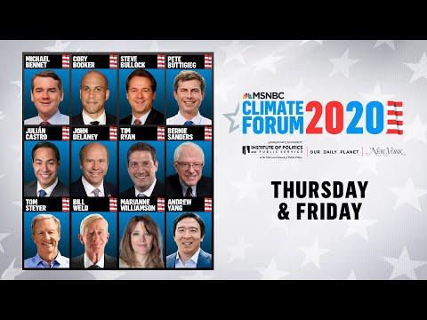 Watch Live: MSNBC's Climate Forum 2020 (DAY 1)   MSNBC 1